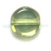 Glass Bead Flat 6mm Olivine Aurora Borealis - Strung